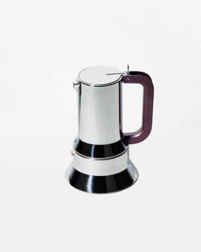 Espressokocher Edelstahl Alessi 9090