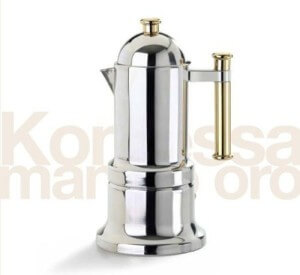 VEV Vigano Kontessa Edelstahl Espressokocher