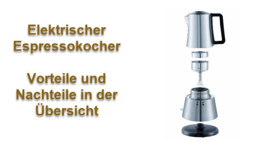 Elektrischer Espressokocher - Espressokocher Edelstahl