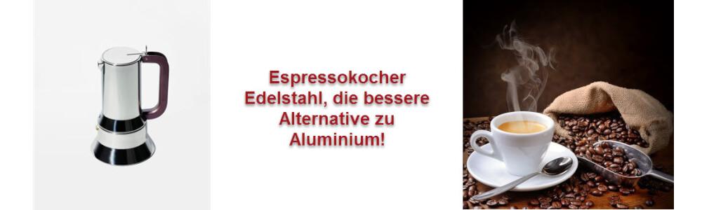 Espressokocher Edelstahl